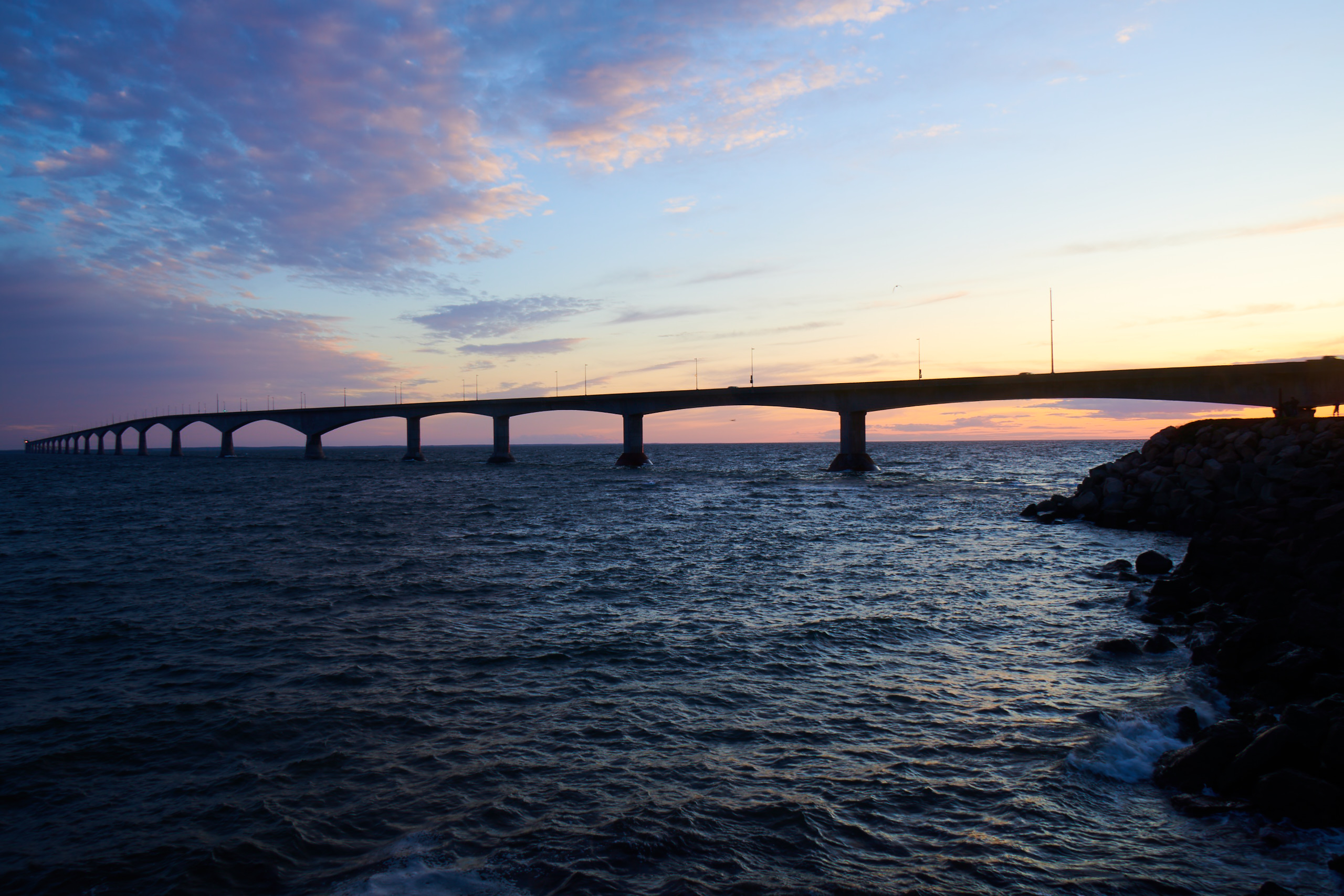Sunset on the Other Side of Confederation Bridge