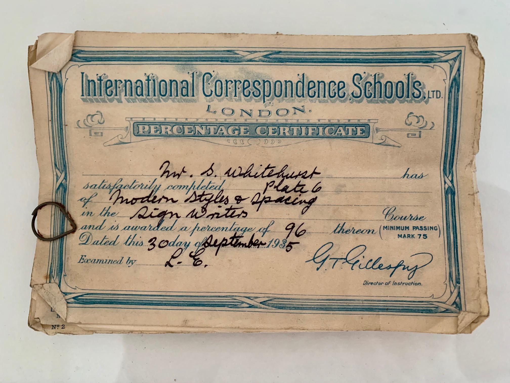 International Correspondence Schools Certificate