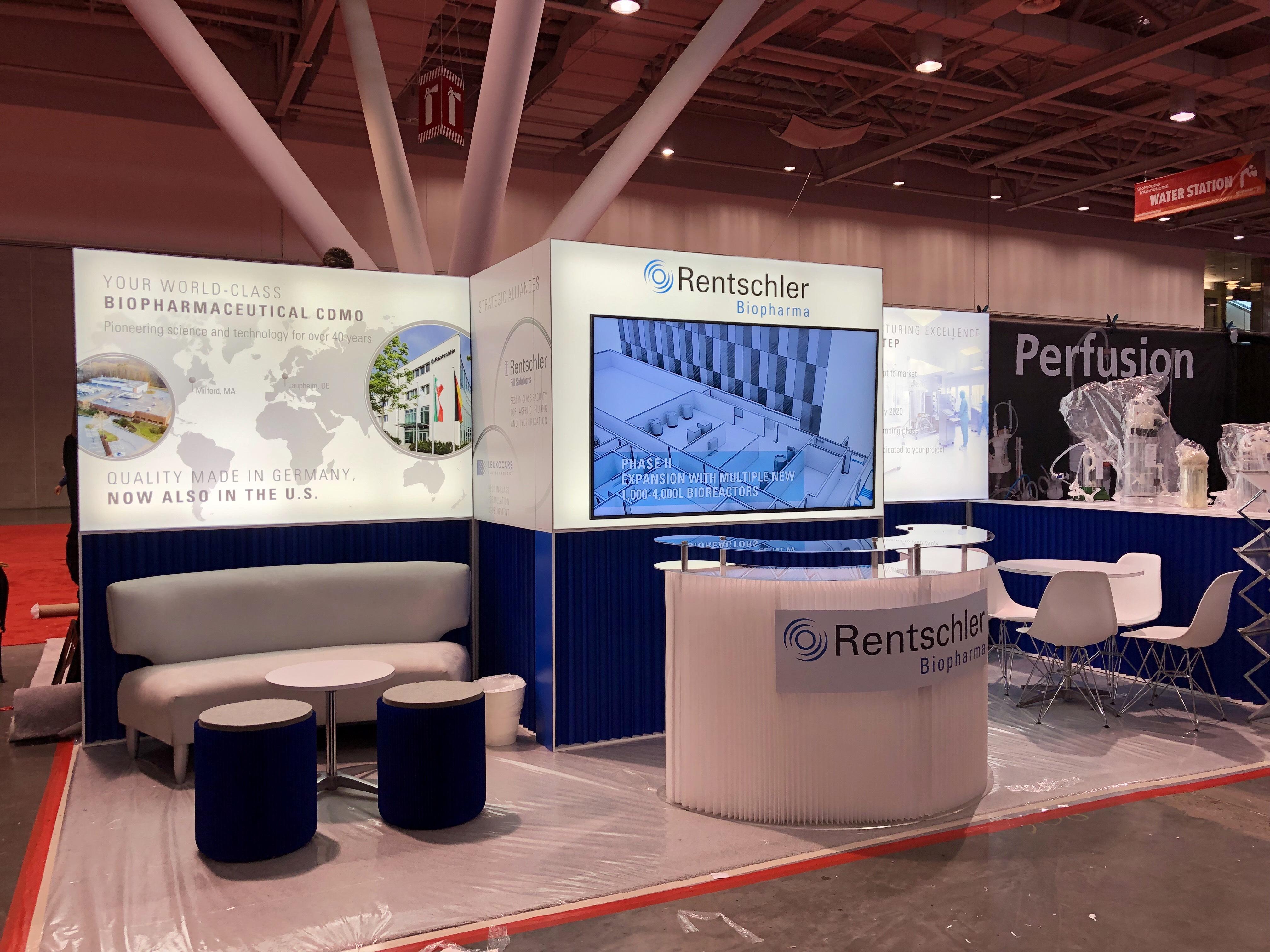 Rentschler Booth at BioProcess International