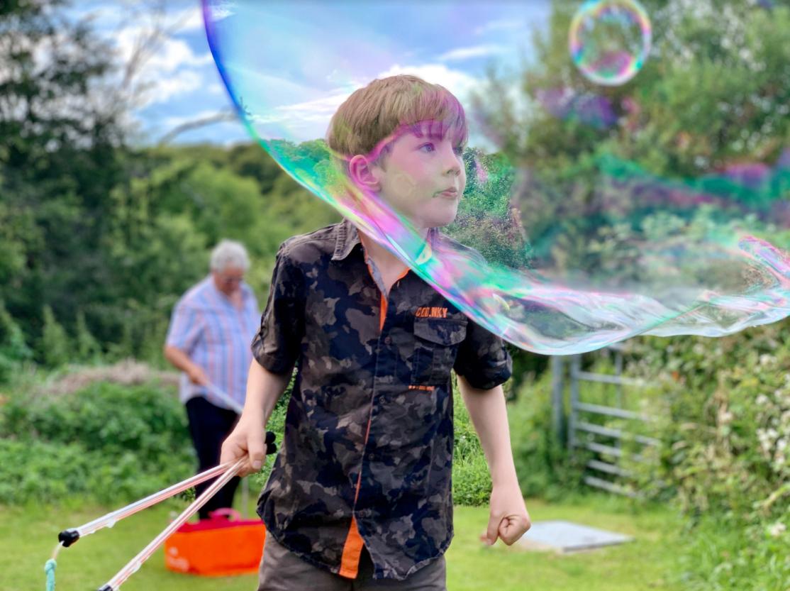 A Bubble in a Bubble