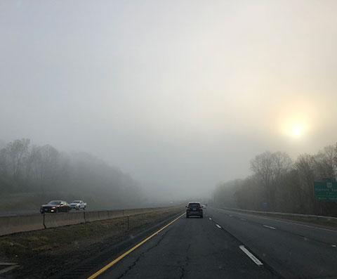 Hazy Morning Travel